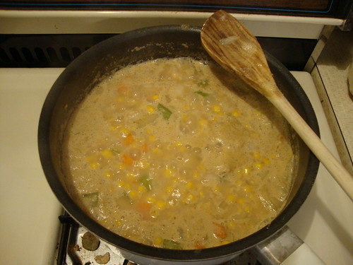 Vegan corn chowder!