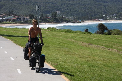 Great coastal cycling south of Wollongong, NSW.