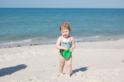 Leda on the beach