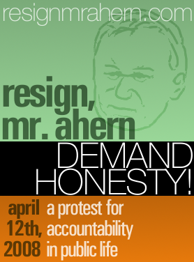 """Resign, Mr. Ahern"" poster attempt"