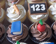 Teacher Appreciation Cupcakes (clevercupcakes) Tags: school apple pencil book diploma teacher blackboard a montrealsclevercupcakes teacherappreciations