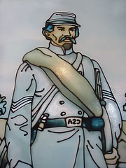 Stained Glass of a Confederate Soldier of the ...