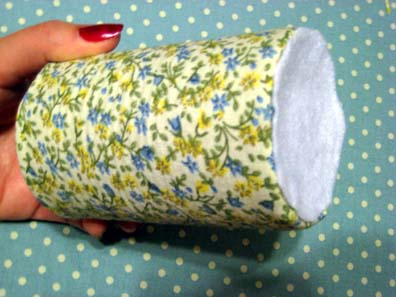 Fabric Covered Soup Can - with felt bottom