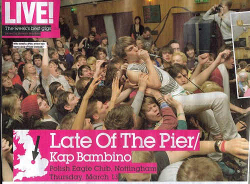 Sam from Late Of The Pier wear QOS T-shirts on NME!