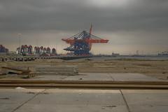 Euromax terminal --- Under construction (sjoerd_reverda) Tags: port rotterdam transport terminal container maasvlakte maersk intermodal ect euromaxx