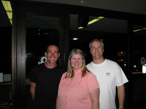 With Kirk and Donna in Los Angeles Airport, California, USA