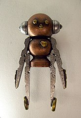 Robot Rocket Boy Cane with Wood Top Sculpture and Clear Ruby Red Walking Stick (Builders Studio) Tags: wood fiction people sculpture man art classic statue metal trek toy person star robot punk comic technology geek mechanical tech metallic space painted machine artificial science retro steam nasa replica ia figure scifi pulp wars figurine android prop mecha droid geekery bot mech robo automaton steampunk robotic cyclon