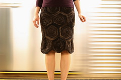 snapping turtle skirt (mintyfreshflavor) Tags: newyork subway knitting knit skirt explore mta fos exploretop100 explore22 tessdesigneryarns snappingturtleskirt 2008fos