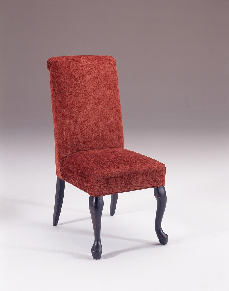 Powell Roll Back Parsons Chair with Cabriole Legs