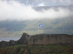 Saltire on Urquhart Castle