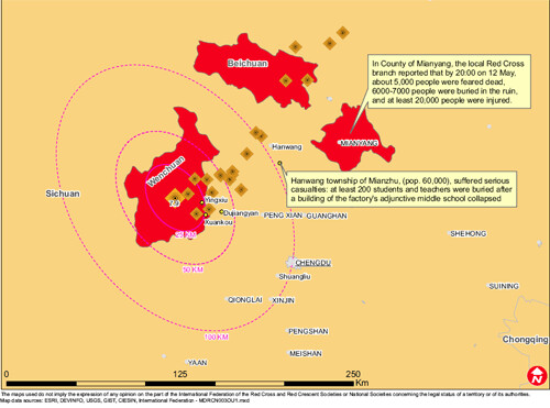 China : Shichuan Earthquake 7.8 四川省汶川地震最新情况