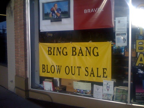 Bing Bang Blow Out Sale