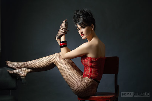 Picture of Russian Model in Fishnet Stockings