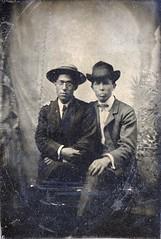 00598 varones (VARONES!) Tags: friends portrait male men vintage couple buddies friendship affection cabinet antique pals guys card mates affectionate varones