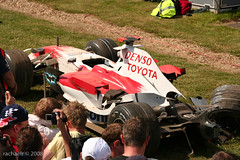 Trulli crashes out on Friday Practice