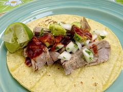 Carnitas Taco with Guajillo sauce
