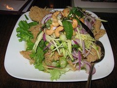 SriPraPhai: Crispy thai catfish meat salad