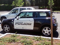 Tualatin Mini Cop Car (For Bunk) Tags: city blackandwhite white black car oregon town phone cell police pic mini mg crime cop 50 tualatin resistance fiveo 5o five0 helpingtominimizecrime