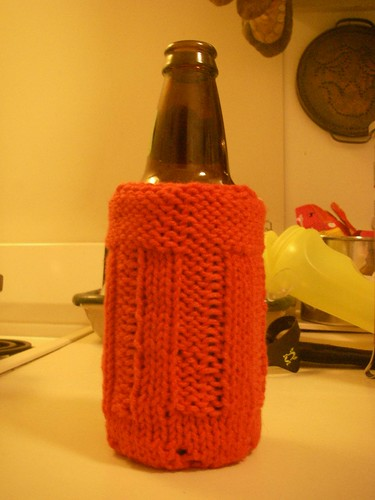 Red Beer Cozy