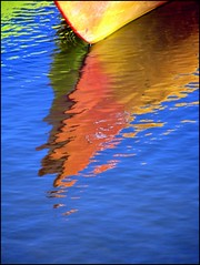 summer colors (1bluecanoe) Tags: summer color reflection water oregon river kayak bright deschutes reflexions 1bluecanoe colorphotoaward theperfectphotographer visionqualitygroup