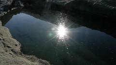 65.壺穴上的夕陽倒影