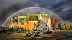 Rainbow Dome (DARREN ST0NE) Tags: canada rainbow bc over victoria arena dome hdr the darrenstone lightgazer