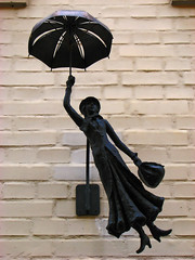 Mary Poppins (aGinger) Tags: holiday wall umbrella photoshop hungary mary bricks 2008 sopron poppins bronz cgr citrit platinumheartaward