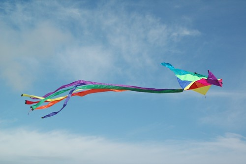summer is: flying a kite