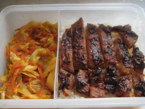 Miso Pork Chop with cabbage in lunch box