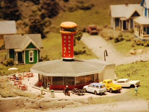 Burger palace in the miniature train exhibit
