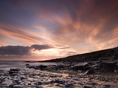 The last time the Sun set (Chris Hammerton) Tags: uk southwales wales landscape olympus wfc ogmore bristolchannel e330 britishseascapes