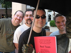 The Red Team: Jeff, Derek, Me (Travis), and Devin