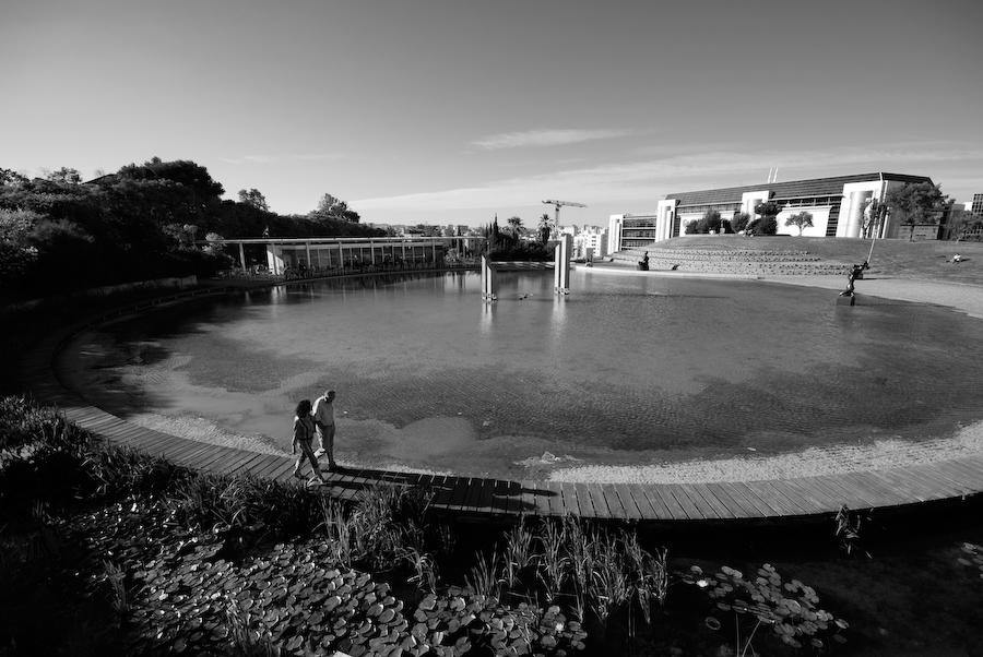 água, pessoas, restaurante, lago