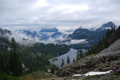 Snow Lake and Fog