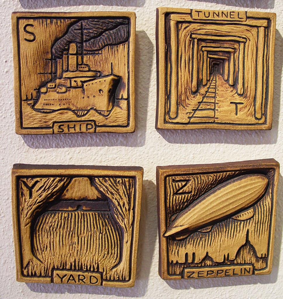 The worlds best photos of alphabet and ceramics flickr hive mind alphabet tiles 3 by john white american museum of ceramic art pomona california doublecrazyfo Gallery