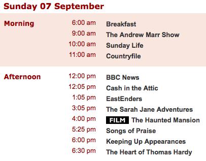 BBC One Program
