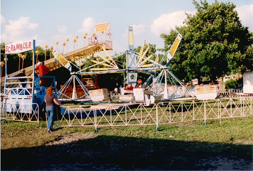 Saint Clair of Montifalco Catholic Parish annual summer carnival. Chicago Illinois. June 1987. by Eddie from Chicago
