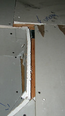 Remodel Framing and Drywall 021 (MathTeacherGuy) Tags: home kitchen drywall project construction error repair framing renovation remodel electrical contractor errors carpenter mistakes goofs sheetrock measurement