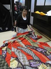 Red Kimono (Ginas Pics) Tags: red art smart japan lady dress handmade silk getty nippon kimono japaneseculture kokura ginaspics japaneselady reginasiebrecht