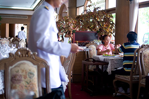 The dining room at Sorndaeng, Bangkok