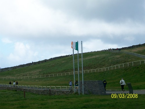 Ireland - Cliffs of Moher - Flagpole at visitor center