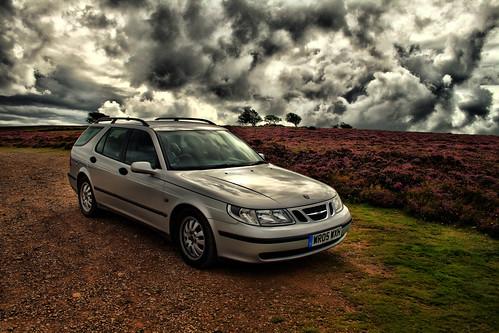 Moody car shot Exmoor