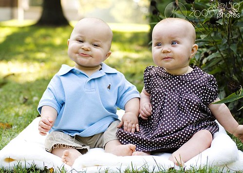 8 month old baby twins
