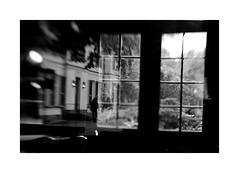 gone (Kai H.) Tags: people bw reflection window lensbaby canon germany bayern deutschland bavaria eos mirror fenster spiegel franconia 3g sw lower glas reflektion aschaffenburg unterfranken schnbusch musikpavillon 40d