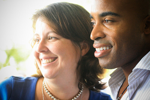 Kristen Hammond and Tiki Barber