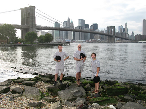 H20 Group on the bank of the East River in DUMBO by Justin Parr