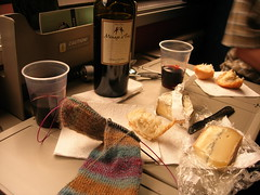 Obligatory train wine-and-cheese