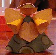 Ornament for jukejan (vblarney) Tags: angel fairy ornament papercraft swapbot atticdwellers