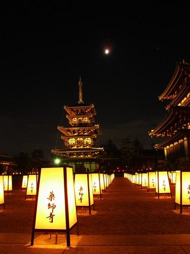 薬師寺(万燈会・夜)-13