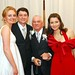 Casados, pai e irmã do noivo